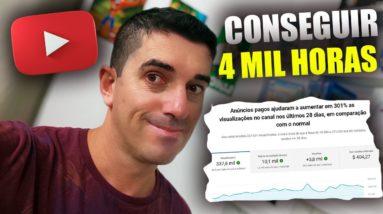 Como Conseguir as 4 mil Horas e os Mil inscritos no Youtube