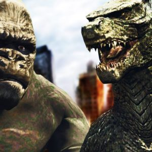 GTA V PC - Godzilla vs. Kong A LUTA BUGADA (MODS)