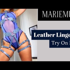Leather Lingerie Try On Haul-- Marie Mur