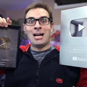 Mostrando Placas do YouTube de 100k e 1 Milhão de Inscritos | #shorts