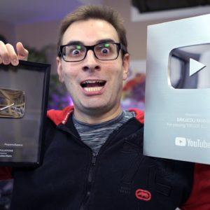 Mostrando Placas do YouTube de 100k e 1 Milhão de Inscritos   #shorts