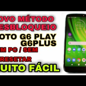 tutorial gostoso remover conta Google moto g6 play g6 Plus Android 9 sem pc e sem resetar