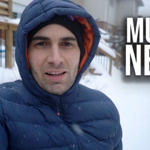 Nevou MUITO Onde eu Moro | Mostrando o Quintal CHEIO de NEVE!