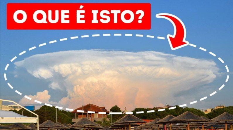 Nuvens que parecem uma Erupção Vulcânica — Mas Isso Não É Tudo