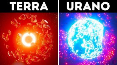 O Que Você Observaria se Explodisse Planetas Diferentes