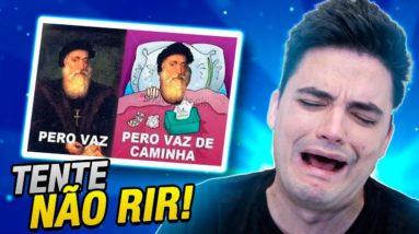 TENTE NÃO RIR - PIADAS SEM GRAÇA!