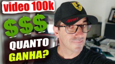 Quanto ganha um Youtuber com video de 100 mil visualizações no youtube com Adsense? Veja neste vídeo