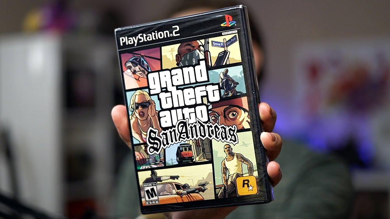 GTA San Andreas de PS2 | Unboxing e Demonstração!