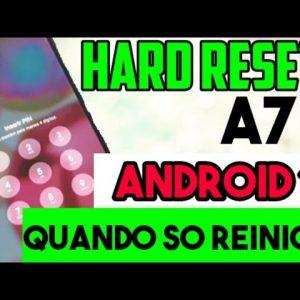 Hard reset A71 no Android 11 / quando ele só reinicia / desbloquear formatar