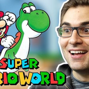SUPER MARIO WORLD - Início de Gameplay do Clássico da Nintendo!
