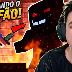 INVADI O TEMPLO E ENFRENTEI O PRIMEIRO CHEFÃO NO MINECRAFT #09 #T2