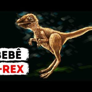 Os T-Rex Jovens Não Se Pareciam em Nada com os Dinossauros que Vemos nos Filmes