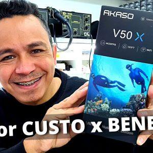 AKASO V50X BRASIL   CÂMERA DE AÇÃO 4K COM ESTABILIZACAO DE IMAGEM,  BOA E BARATA, EXCELENTE!!!