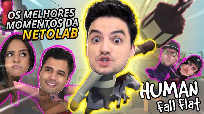 OS MOMENTOS MAIS ENGRAÇADOS DA NETOLAB NO HUMAN FALL FLAT! #2