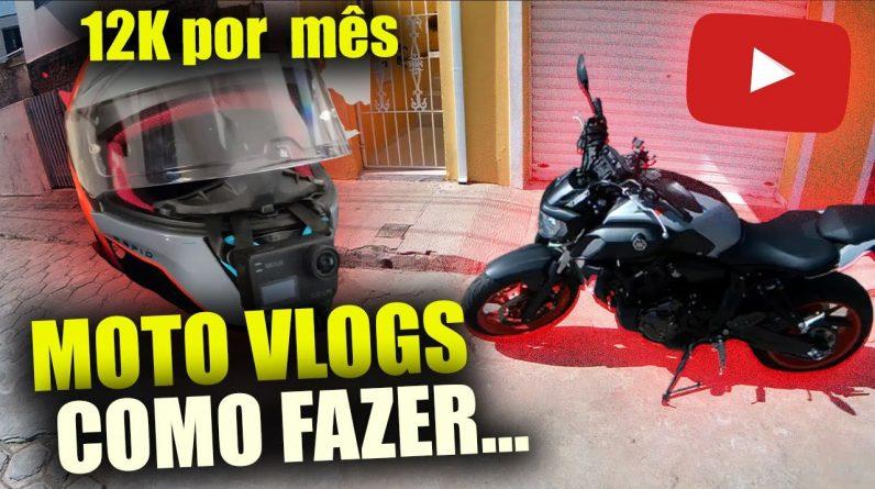 Canal dark de Moto Vlogs R$ 12.893,00 Por mês andando de Moto   Como criar canal de moto no youtube