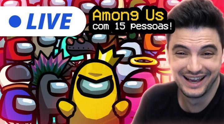 AMONG US COM 15 PESSOAS! [+10]