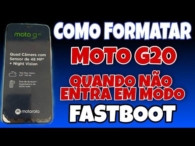 HARD RESET MOTO G20 DESBLOQUEAR FORMATAR REMOVER BUGS DO SISTEMA