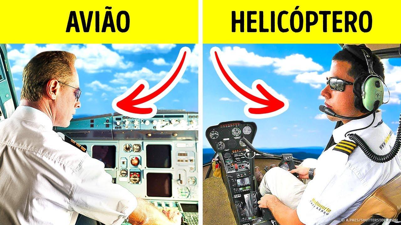 Por Que o Piloto de Avião Sempre se Senta À Esquerda, mas o de Helicóptero À Direita?