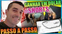 [ Passo a passo ] Como Ganhar em dólar usando Shorts Ganhar dinheiro no Youtube