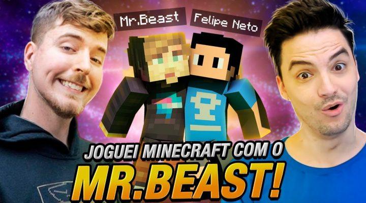 JOGUEI MINECRAFT COM O MR. BEAST