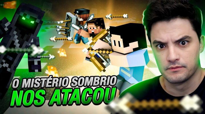 MISTÉRIO SOMBRIO ATACOU NOSSO PORTÃO NO MINECRAFT #2-40